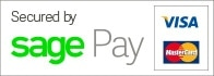 Secured by Sage Pay Visa and MasterCard